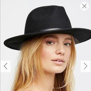 FREE PEOPLE Wythe leather band felt hat